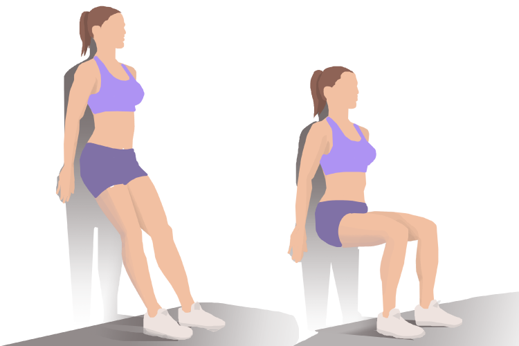 Wall Sit Demonstration